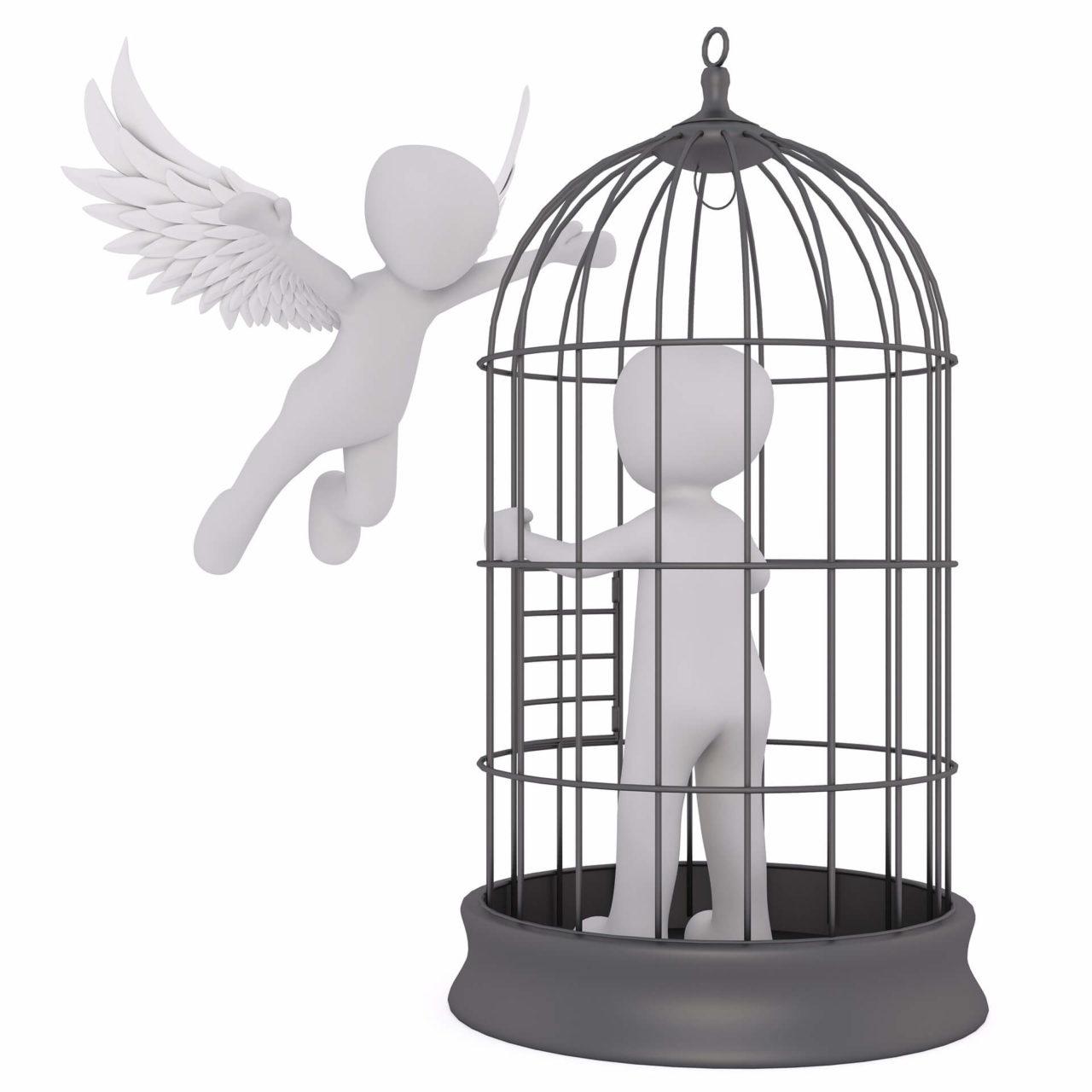 かごの中の人と天使